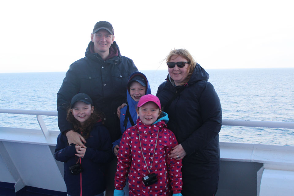 The Grier Family on board the KING Seaways