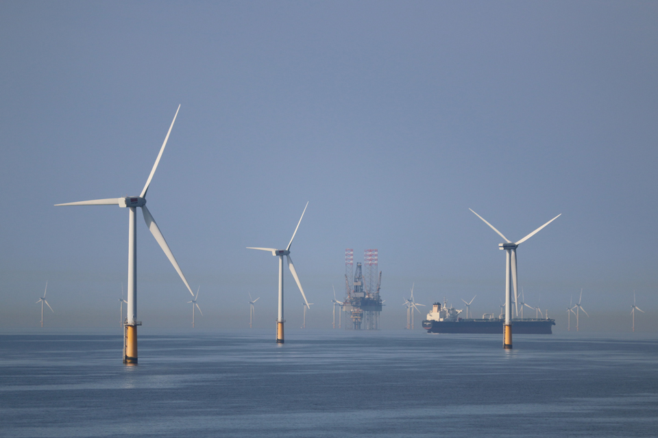 Wind farms of the North Sea